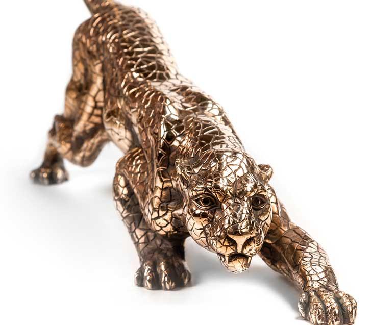 Подарок руководителю на Новый Год - бронзовая фигура ягуар