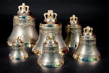 Набор №7 из шести колоколов 4кг, 8кг, 12кг, 18кг, 34кг, 50кг общим весом 126 кг
