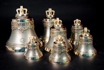 Набор №9 из семи колоколов 4кг, 8кг, 12кг, 18кг, 34кг, 50кг, 80кг общим весом 206 кг